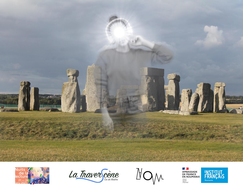 """Téléperformance """"À l'écoute du néolithique"""" pour la Nuit des Idées en partenariat avec l'Institut Français de Roumanie et Zaoum, epsace d'artistes à Clermont-Ferrand."""